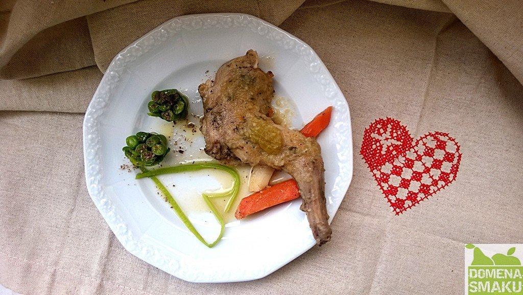 Pan krolik na warzywach 1